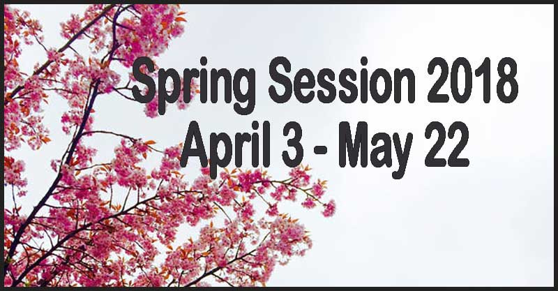 Spring-session-April 3-May22
