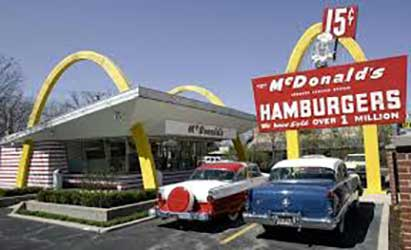 early McDonalds restaurant