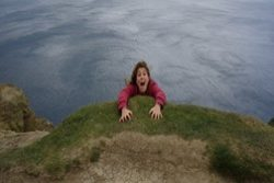 falling off the cliff